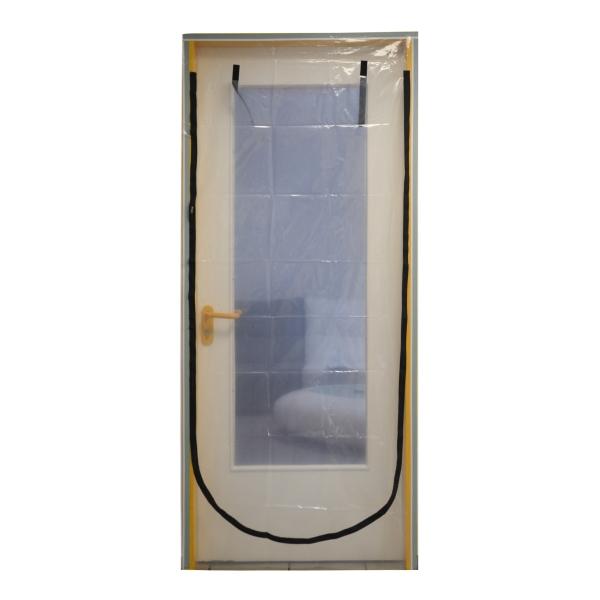Folien Staubschutztür U-Form mit Reißverschluss