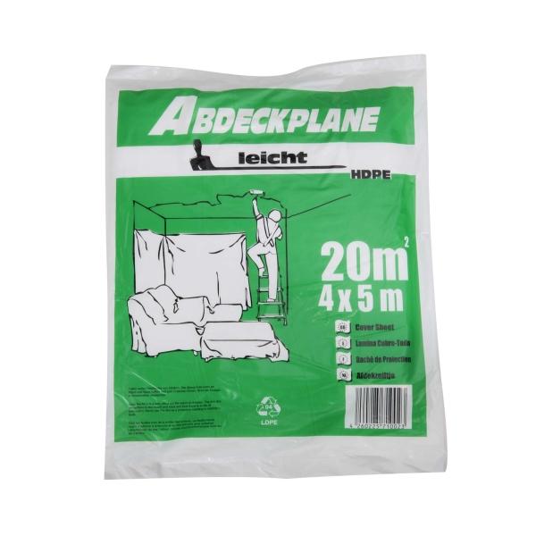 """Abdeckplane Abdeckfolie HDPE 7 my """"leicht"""" 4 x 5 m"""